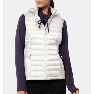 White Packable down vest
